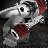 """FOR 02-06 TOYOTA CAMRY I4 2.4 ALUMINUM 4""""COLD AIR INTAKE+RED FILTER+HEAT SHIELD"""