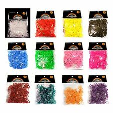 Loom Bands ✦ 600 Rubber Bands ✦ Loom Band S Clips ✦ White Black ✦ UK Craft Store
