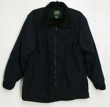 Cabelas Stillwater Supply Jacket Mens XL Black Full Zip Long Sleeve Lined Coat