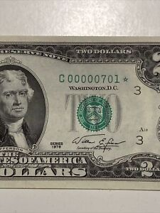 1976  $2 《Super Low Number  Trinary Star Notes 00000701*》UNC!Super Top Rare!