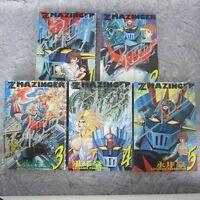 Z MAZINGER Manga Comic Complete Set 1 - 5 GO NAGAI & Dynamic Pro Book KO