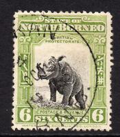 North Borneo 6 Cent Stamp c1909-23 Used (8376)