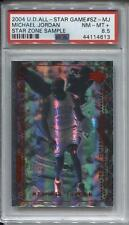 Michael Jordan 2004 Upper Deck All Star Game Star Zone Sample PSA 8.5