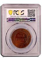 1931 Dropped 1 Penny Australian PreDecimal Coin  KGV Penny 1d PCGS Ungraded