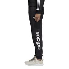 Adidas Uomo Pantaloni Essenziale Lineare in Pile Palestra Moda CF1343 Nuovo