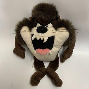 Vintage Looney Tunes Taz Plush Talking Tasmanian Devil 2003 Soft Toy 23cm