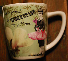 Enesco Boy In Pink Tutu 'Don't Pretend To Understand My Problems' Porcelain Mug