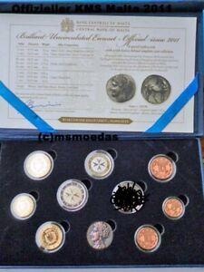 Malta Euro Kursmünzensatz KMS 2011 mit 1 Cent bis 2 Euro in Original Box Etui BU