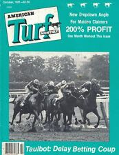 American Turf Monthly Magazine 1981 Oct Taulbot Delay Betting Coup Horseracing