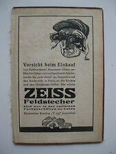 PUBBLICITA BINOCOLO CARL ZEISS FELDSTECHER  JENA 1920 C.
