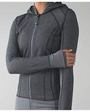 Lululemon Daily Practice Jacket 2 XS Herringbone Heathered Black Gray Slate $128