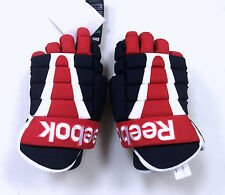 "Reebok 7500 ice hockey gloves 14"" red white blue senior new four roll glove Sr"