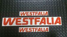 VW TYPE T25/T3/25/T2 WESTFALIA CAMPER STICKER DECAL SET