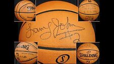 LARRY JOHNSON SIGNED OFFICIAL STAT #d 1/2 GAI AMAZING F/S BASKETBALL !!