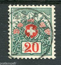 SUISSE 1910, timbre CLASSIQUE TAXE n° 47, FLEURS, oblitéré