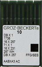 Groz Beckert Dbx1, 16x257 Sewing Machine Needles, Juki, Singer Sz 16 Ball Point