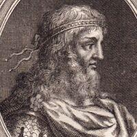 Portrait XVIIIe Récarède Ier Le Catholique Recaredo I Реккаред I Concile Tolède