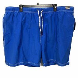 Roundtree & Yorke Men's Swimwear Swim Shorts Trunks 4XB 4XLB Lined Blue