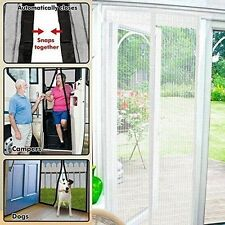 UK Home and Garden Store White Magic Curtain Door Mesh Bug Insect Screen