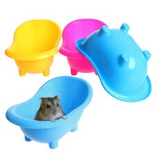 1x Small Hamster Gerbils Pets Bathtub Bath Sand Room Bathroom Bathing Case