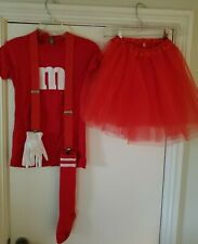 Red M&M Girls Costume Size Small