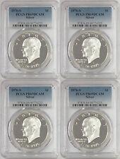 (4) 1976 S Eisenhower Ike Silver Dollar PCGS PR69DCAM LOT of 4