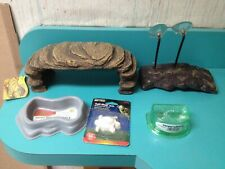 Turtle Tortoise or Reptile Needs: Terrace, Dish, Sulfa Block, Dock, Reptisafe, +