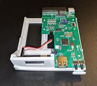 New Amiga 1200 Gotek Floppy Drive Emulator, Bracket, OLED, Cables, Flash Floppy