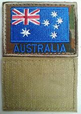 ADF MILITARY AUSTRALIAN FLAG PATCH PULL ON / OFF OR SEW - AUSCAM BACKGROUND