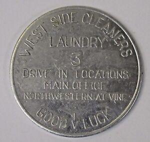 1956-1957 PURDUE Football & Basketball Schedule WEST SIDE Coin Good Luck spinner
