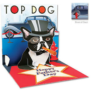 3D Father's Day Greeting Card from Up With Paper - TOP DOG - UP-WP-FD-1054