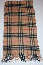 7c736063f68 Genuine Burberry Scarf Merino Wool Cashmere Beige Classic Vintage Check on