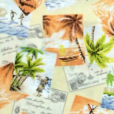 Robert Kaufman, Sevenberry ISLAND PARADISE Hawaiian Palm Tree Fabric - Maize
