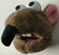 """The Muppets Rizzo Rat 5"""" Vintage 2000s Jim Henson Company Plush Head Toy - New"""