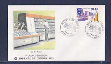 enveloppe 1er jour  journée du timbre  63 Vic le Comte   de carnet   1991