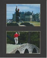 ARNOLD PALMER WAVES GOOD BYE @ LAST MASTERS AND LAST BRITISH OPEN MATTED PHOTOS