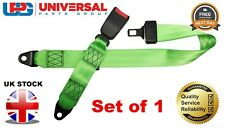 1x Universal Static Green Adjustable Lapbelt & 30cm Web Buckle FREE NEXT DAY DEL