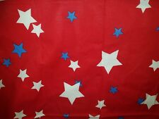 Vintage USA Cotton BANDANA HANDKERCHIEF Western Rancher red blue star patriotic