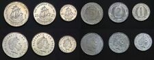 EAST CARIBBEAN STATES COIN SET 1+2+5+10+25 Cents 1 Dollar 2004-2008 UNC LOT of 6