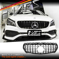 GT-R Style Black Bumper Grille Grill for Mercedes-Benz CLA C117 X117 & AMG CLA45