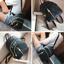 Fashion Women Hot Sale Travel Small Backpack Nylon Handbag Shoulder Bag Black