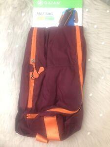 GAIAM YOGA MAT CARRY BAG Burgundy/Orange