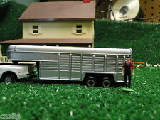 NEW! Ertl 1/64 gooseneck horse, livestock trailer, no box