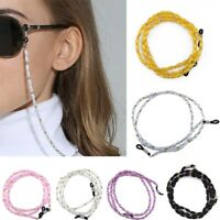 Pearl Beaded Eyeglass Chain Reading Sunglass Cord Rope Neck Strap Lanyard Strap