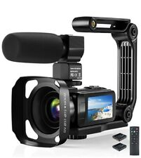 Video Camera Camcorder, 2.7K Ultra HD YouTube Vlogging Camera, 36MP IR Night Vis