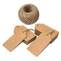 100pcs Packaging Label Kraft Paper Tag DIY Card Note Wedding Gift Handmade Decor