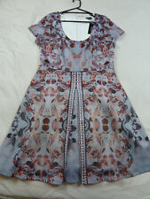 City Chic L 20 NWT RRP $139.95 DRESS REFLECTIONS DOVE SKATER