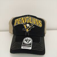 Pittsburgh Penguins Hat NHL '47 Brand One Size Fits All Breathable Stitched Logo