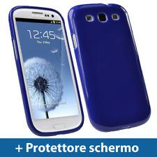 Blu Custodia TPU Gel per Samsung Galaxy S3 III i9300 Android Case Cover Rigida