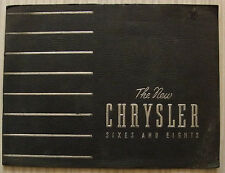 CHRYSLER Sixes & Eights Car Sales Brochure c1936 KEW Wimbledon RICHMOND